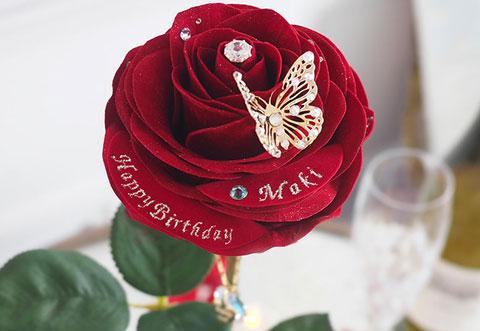 フラワーアートのバラ